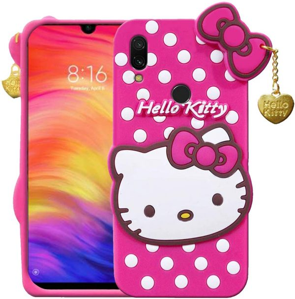 Best 3D Cute Hello Kitty Back Case Cover for Redmi 7 In India 2020